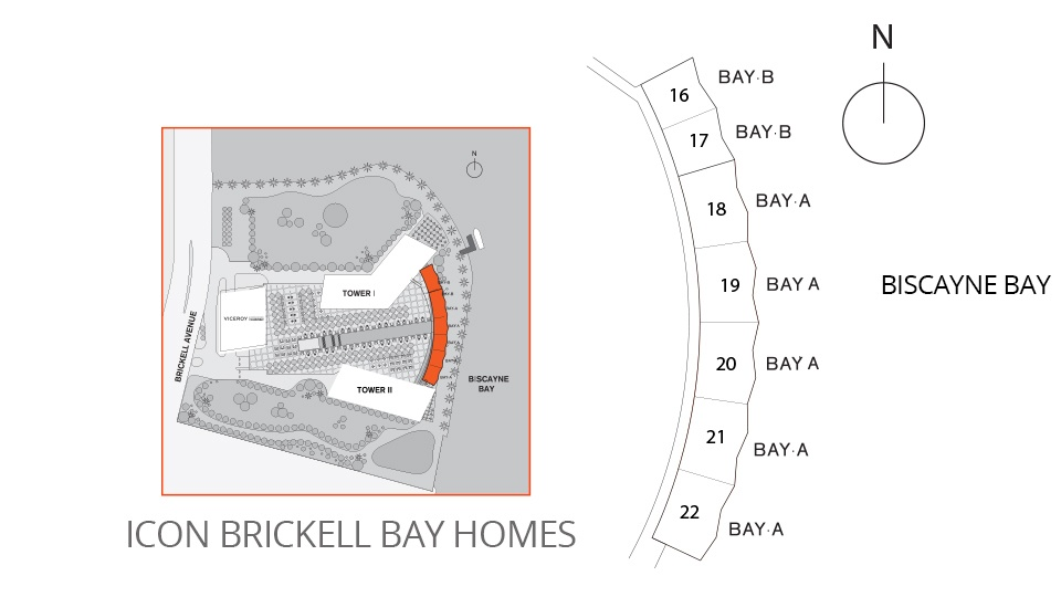 Icon Brickell Bay Homes Site Map