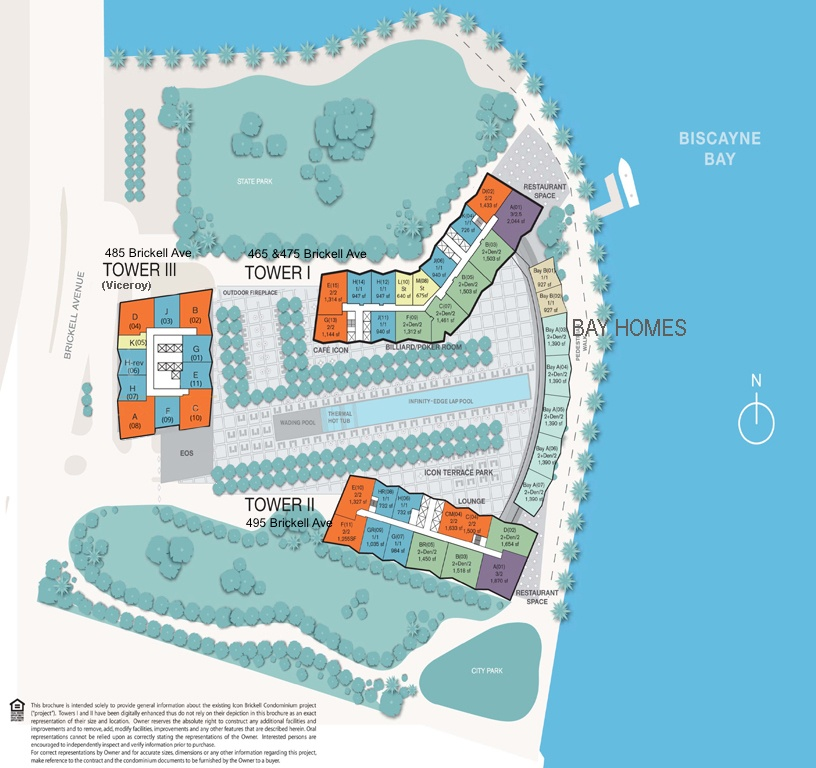 Icon Brickell Site Map