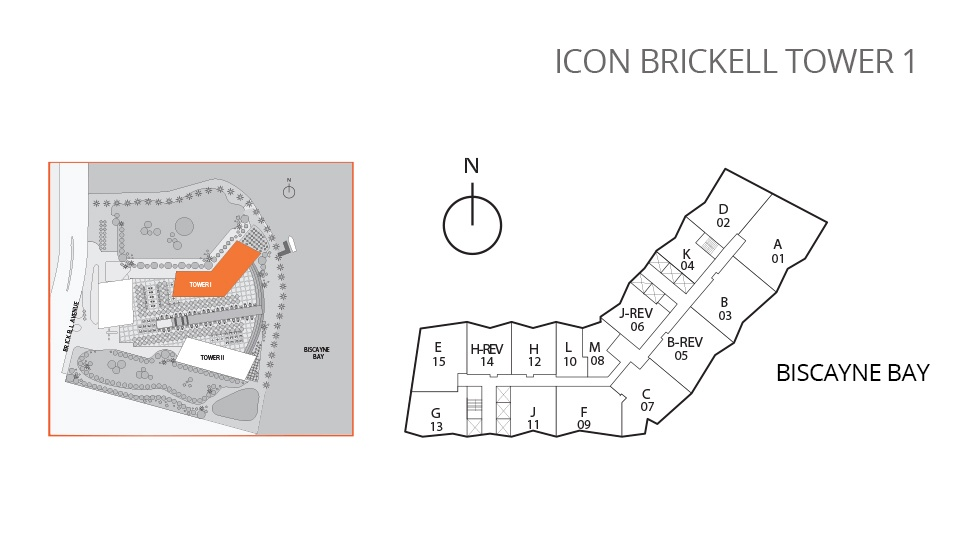 Icon Brickell One Site Map