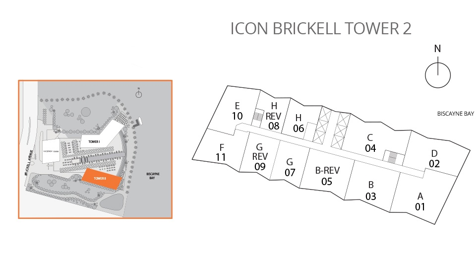 Icon Brickell Two Keyplan