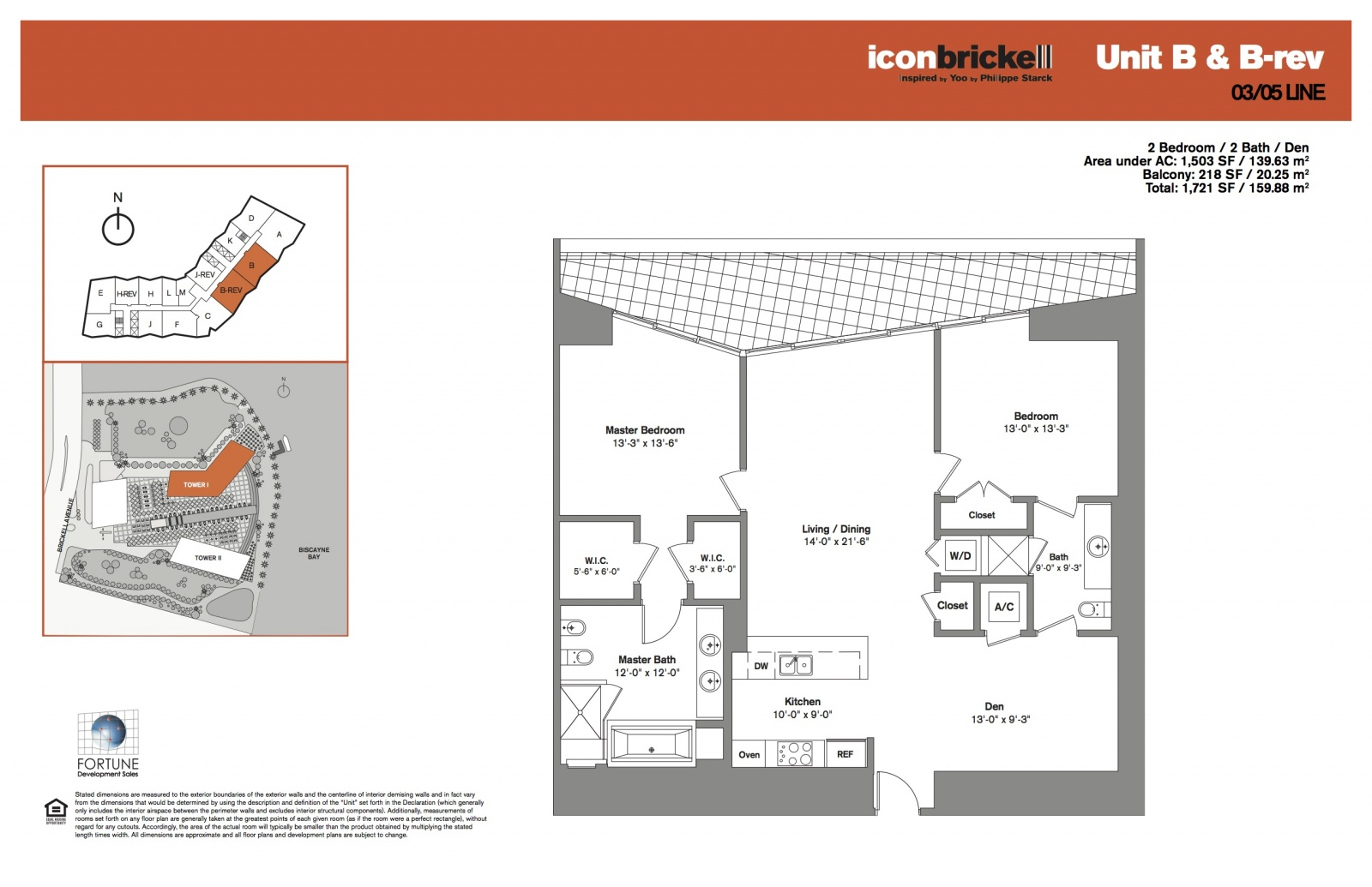 Icon Brickell One, lines 03-05 floor plan
