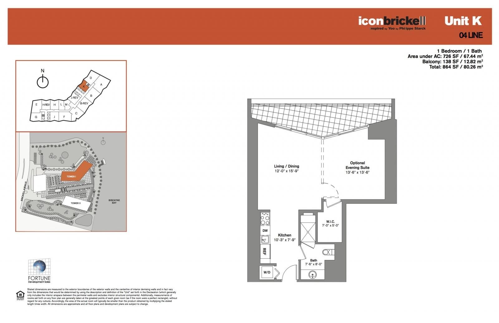 Icon Brickell One, line 04 floor plan