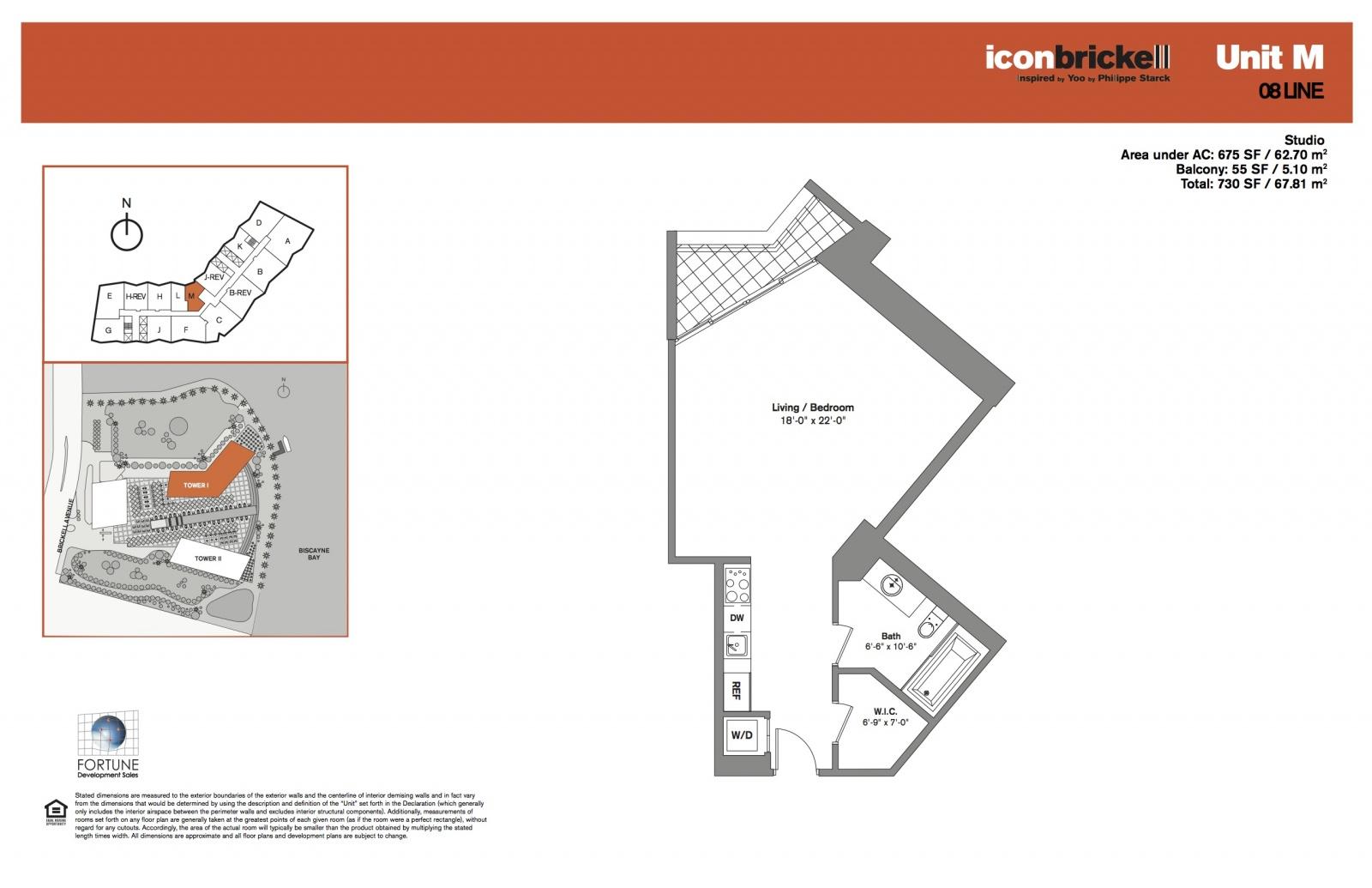 Icon Brickell One, line 08 floor plan