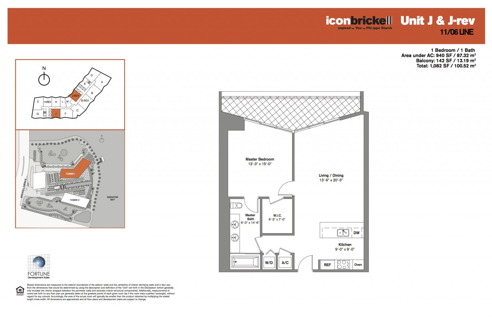 Icon Brickell One, lines 06 and 11 floor plan