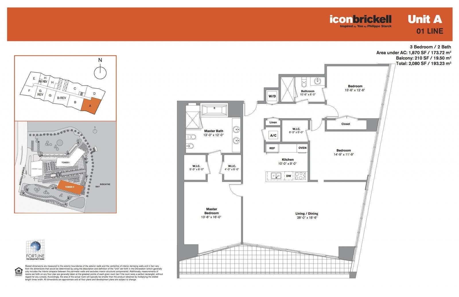 Icon Brickell Two, line 01 floor plan