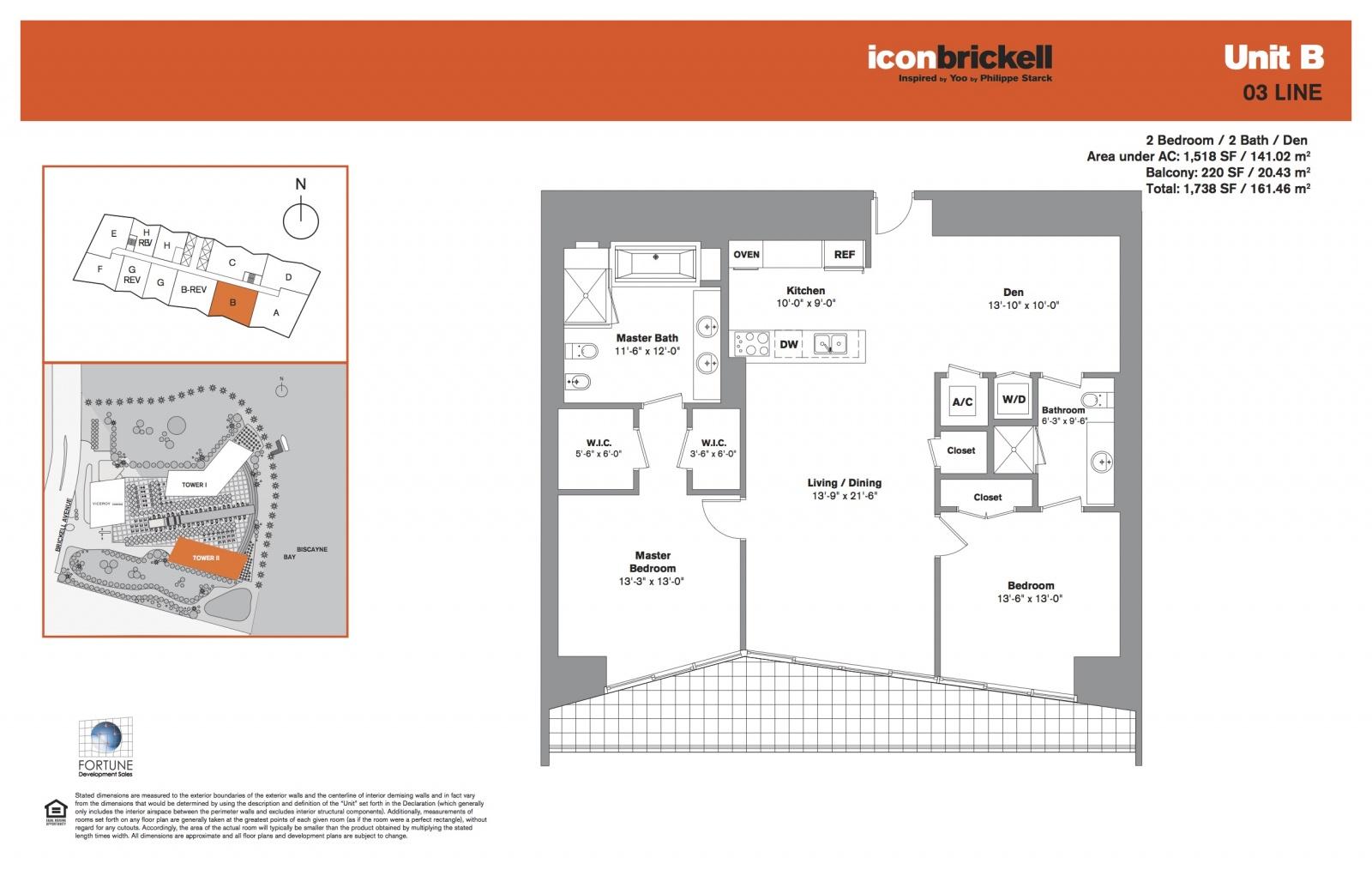 Icon Brickell Two, line 03 floor plan
