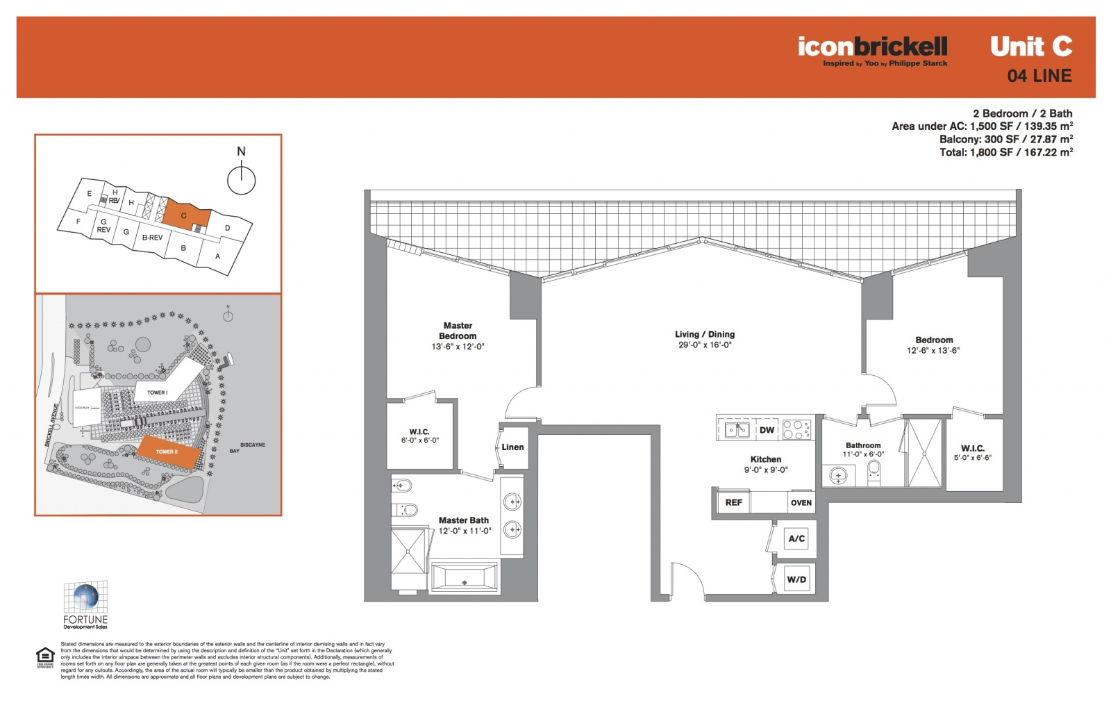 Icon Brickell Two, line 04 floor plan