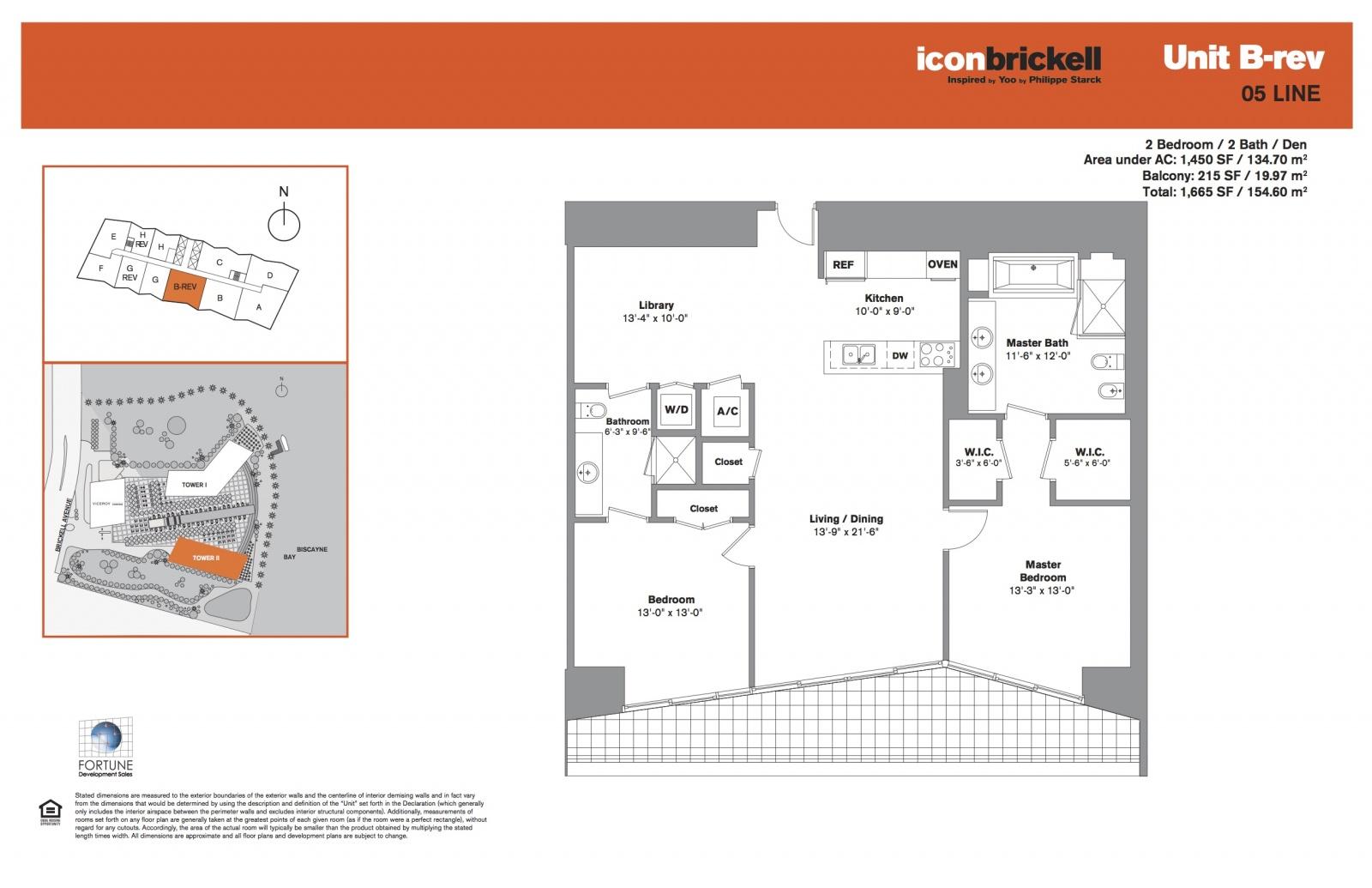 Icon Brickell Two, line 05 floor plan