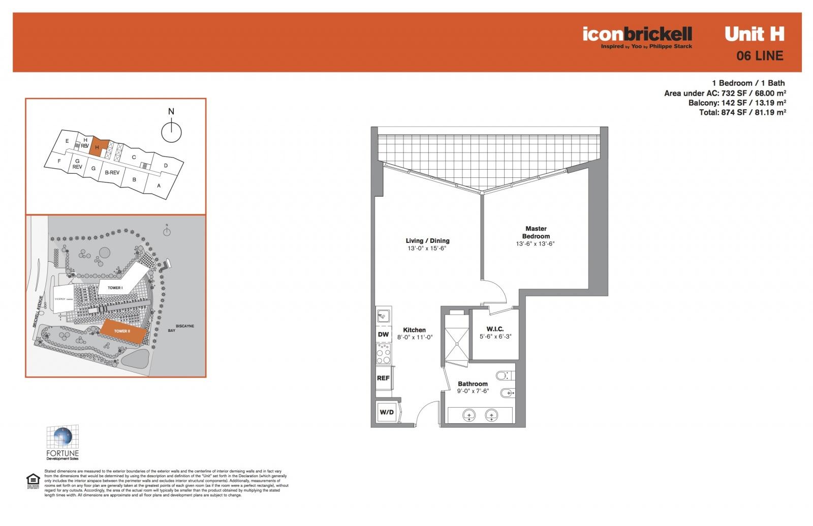 Icon Brickell Two, line 06 floor plan