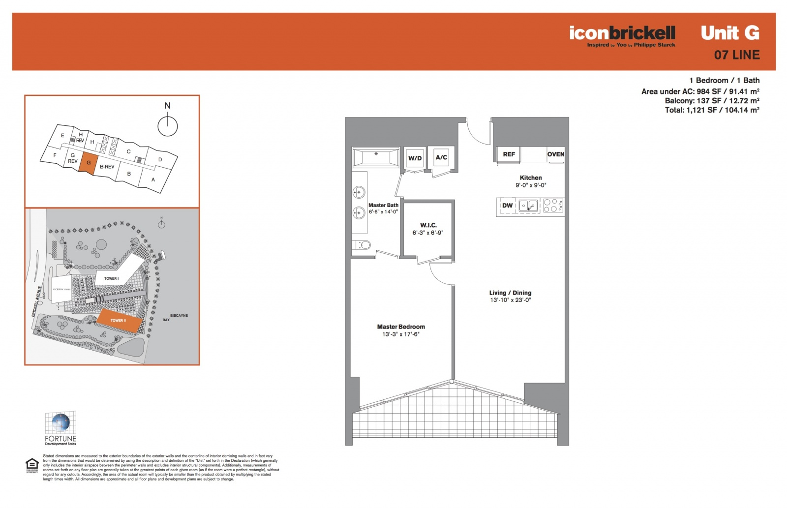 Icon Brickell Two, line 07 floor plan