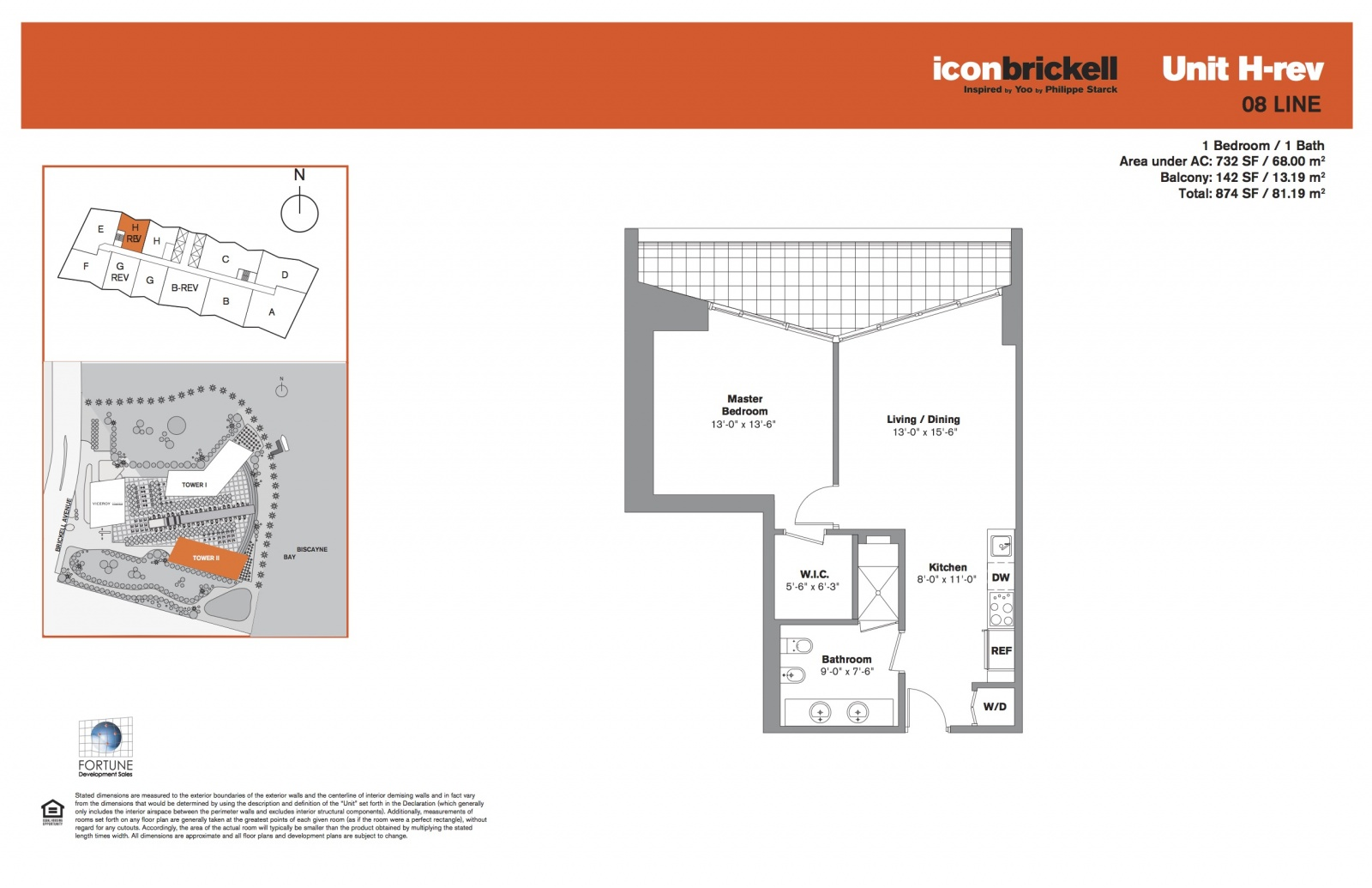 Icon Brickell Two, line 08 floor plan