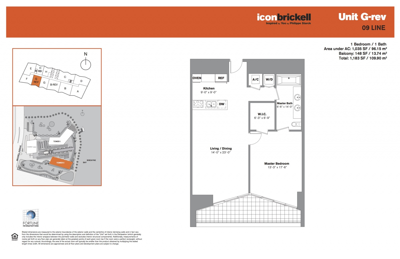 Icon Brickell Two Line 09 floor plan