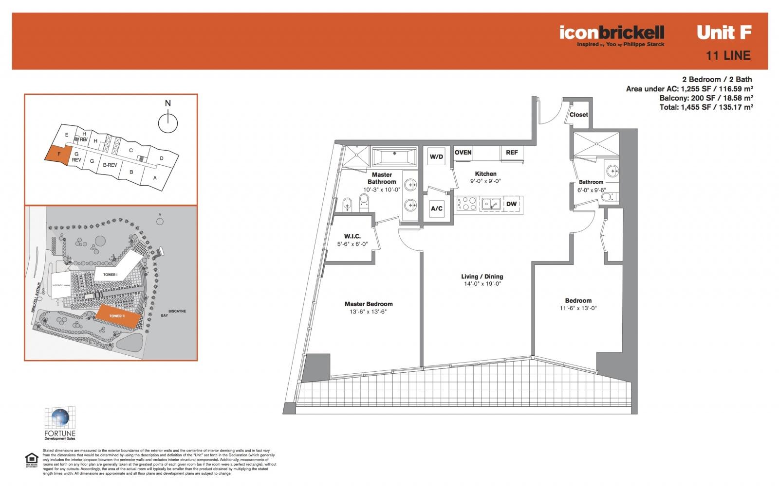 Icon Brickell Two Line 11 floor plan