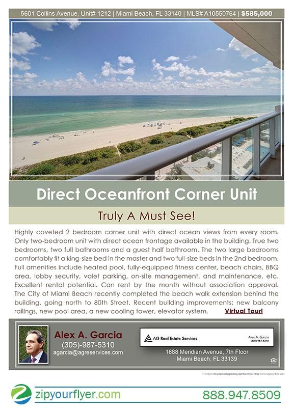 5601 Collins Avenue, Unit 1212, Miami Beach, FL 33140