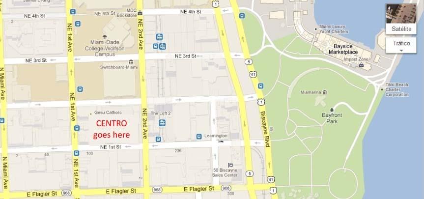 Centro Downtown Condo Location Map