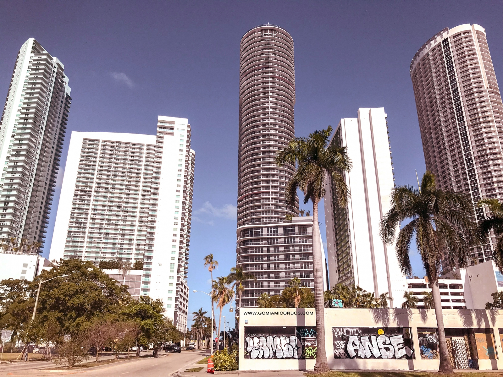 Edgewater back view from Biscayne Blvd