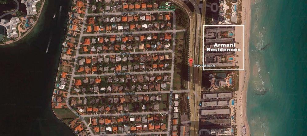 Location Residences Armani Casa Sunny isles miami