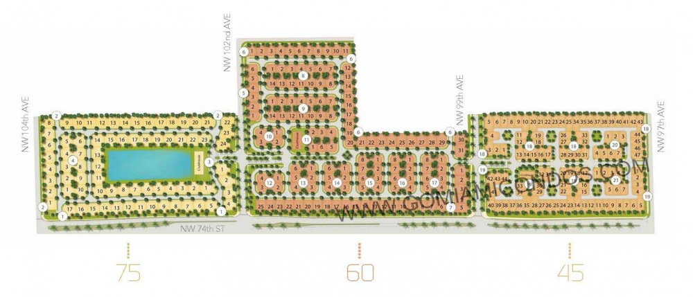 Modern Homes Doral Site plan