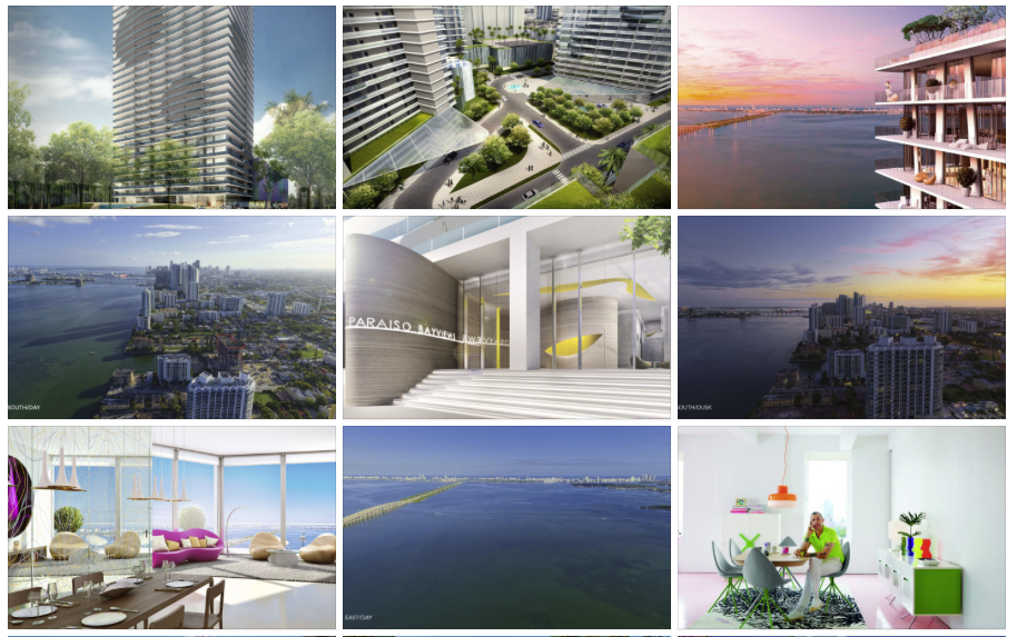Paraiso bay views pictures mosaic