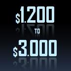 1200 to 3000