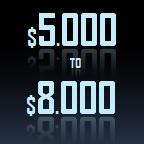 5000 to 8000