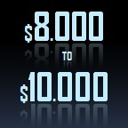 8000 to 10000