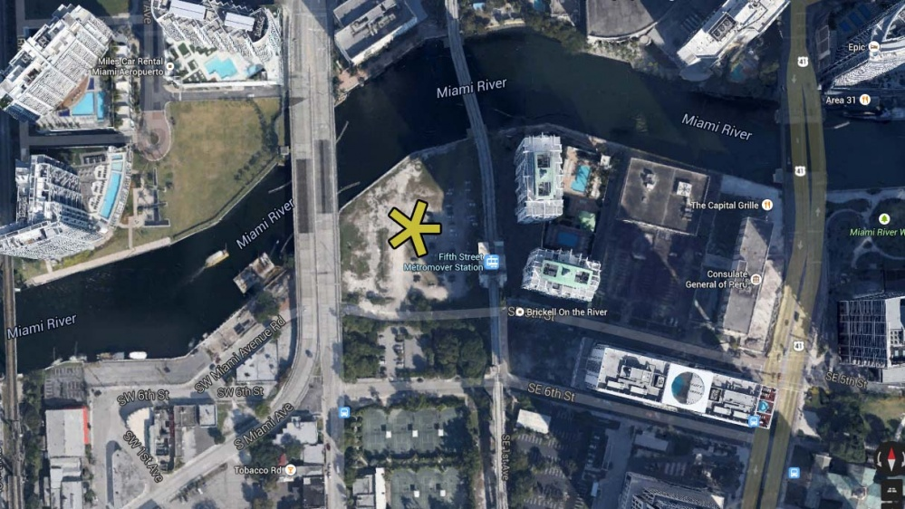 The Edge on Brickell condo map location