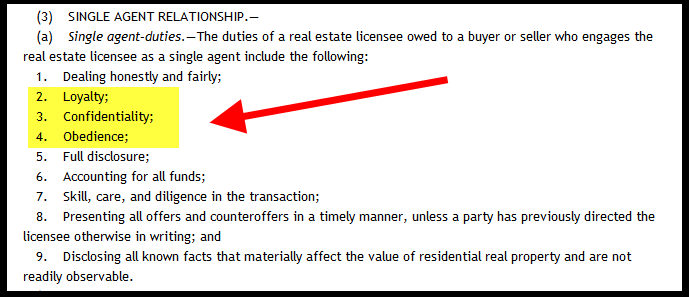 Brokerage Relationship - Single Agent Notice
