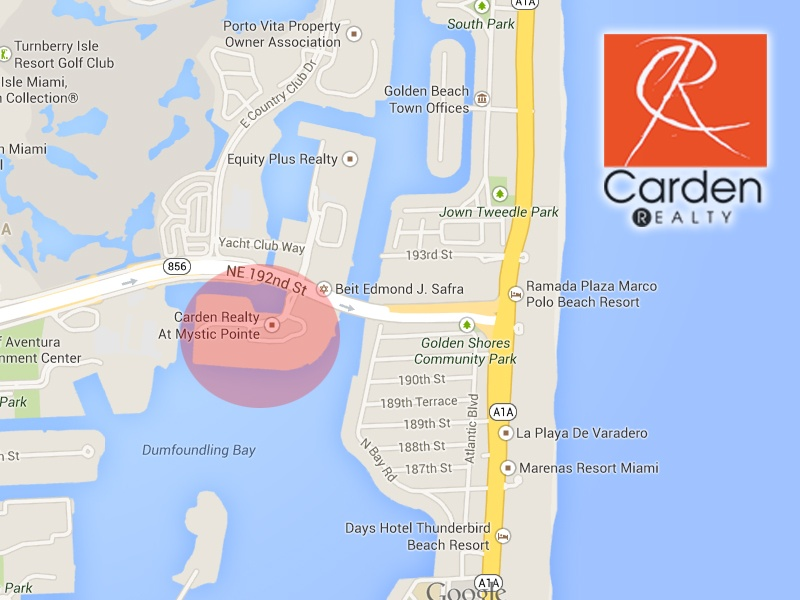 Mystic Pointe Aventura Map and Sunny Isles