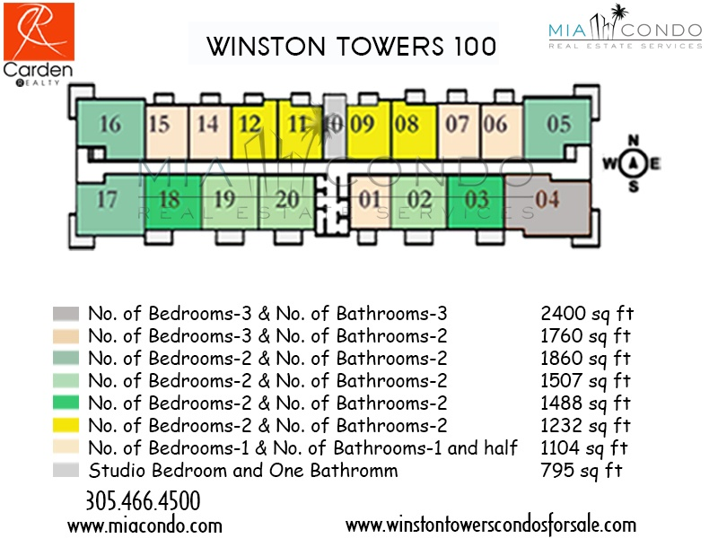 Winston Towers 100 Floor Plan Sunny Isles
