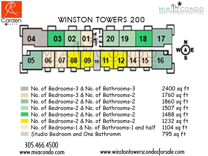 Winston Towers 200 Floor Plan