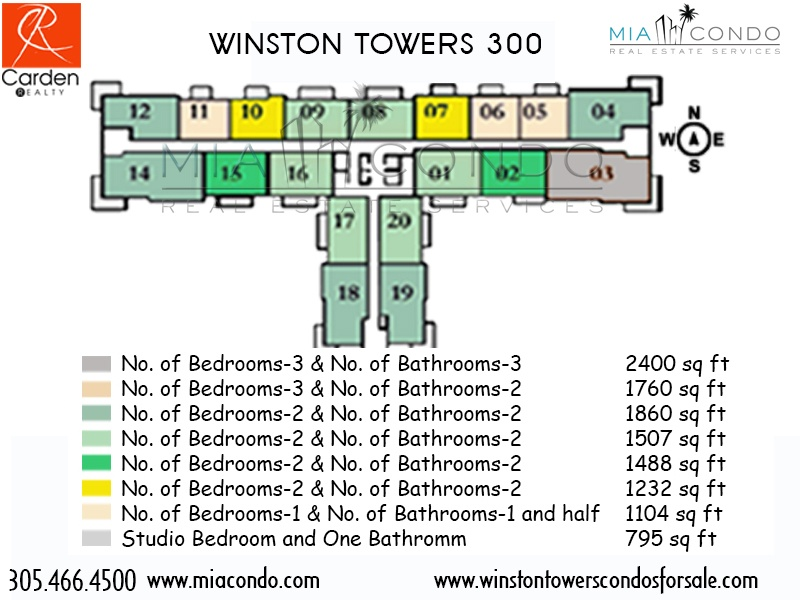 Winston Towers 300 Floor Plan Sunny Isles