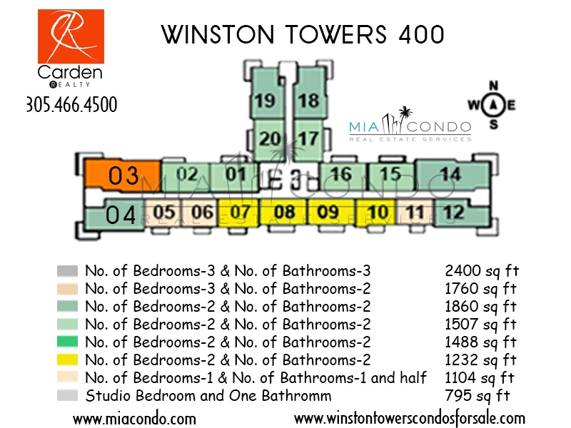 Winston Towers 400 Floor Plan Sunny Isles