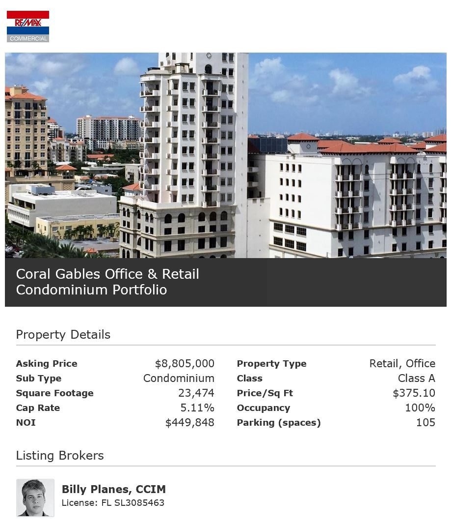 1805 Ponce de Leon Blvd - Coral Gables Office Retail Commercial Portfolio