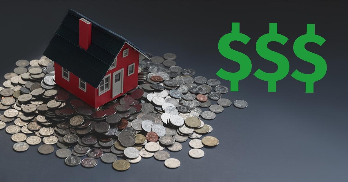 Home pirice increase dollar sign