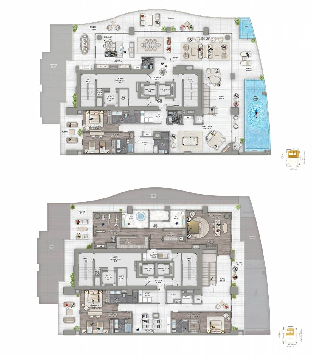 Estates at Acqualina Casa Di Oceana Floor Plan